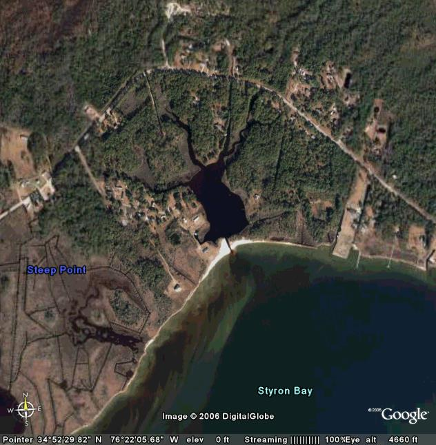 Waterfront lots on the creek and every lot with waterviews of Core Sound and the Outer Banks